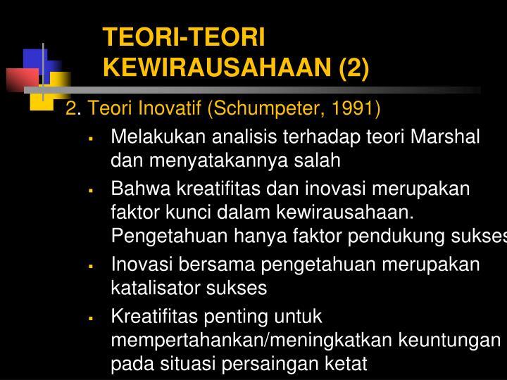 TEORI-TEORI KEWIRAUSAHAAN (2)