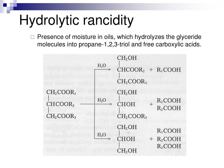 Hydrolytic rancidity
