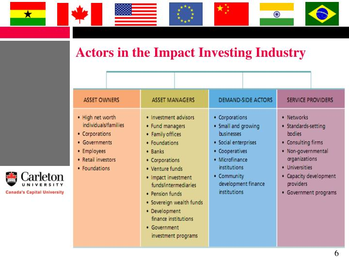 Actors in the Impact Investing Industry