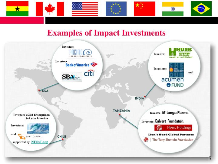 Examples of Impact Investments