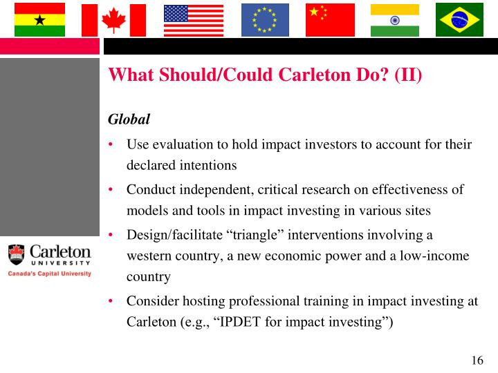 What Should/Could Carleton Do? (