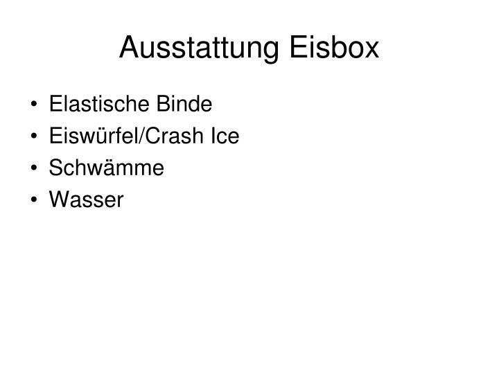 Ausstattung Eisbox