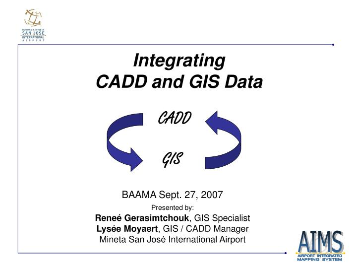 Integrating cadd and gis data