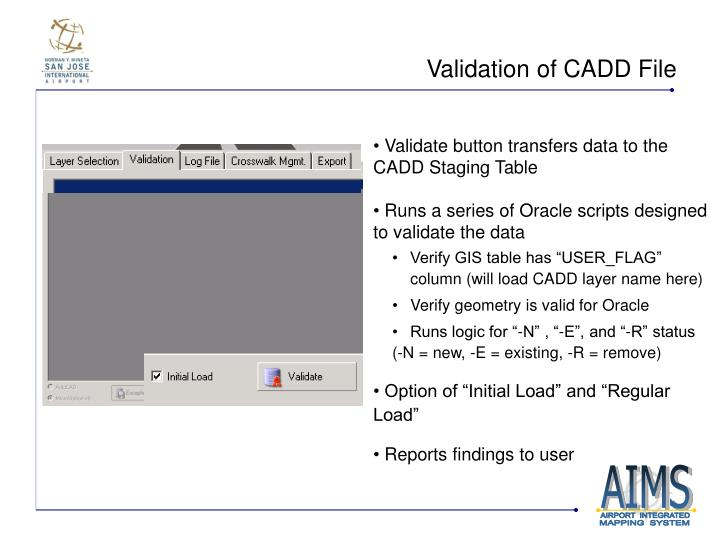 Validation of CADD File