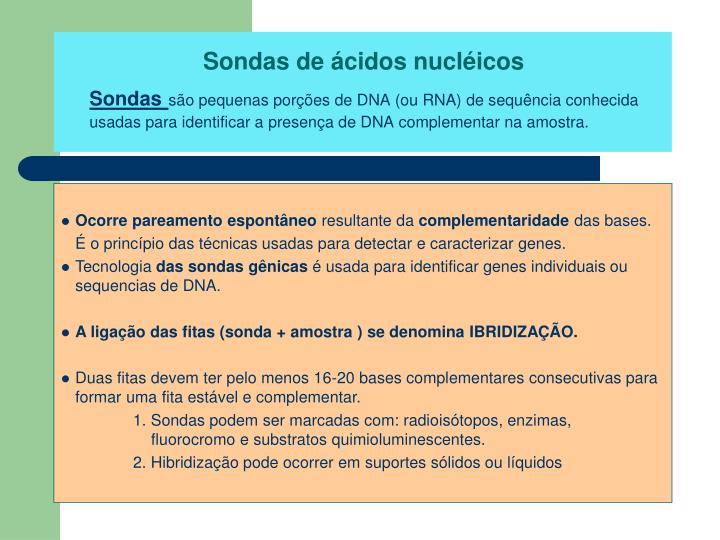 Sondas de ácidos nucléicos
