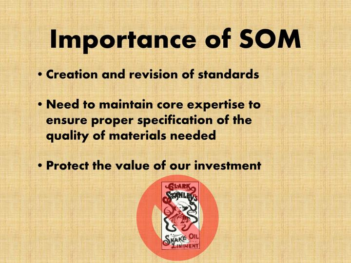 Importance of SOM