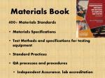 materials book