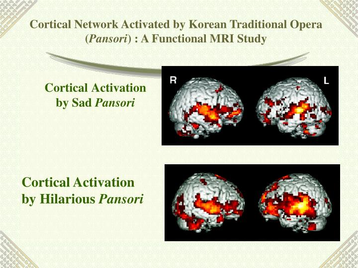 Cortical Network Activated by Korean Traditional Opera (