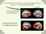 cortical activation by sad pansori
