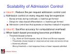 scalability of admission control