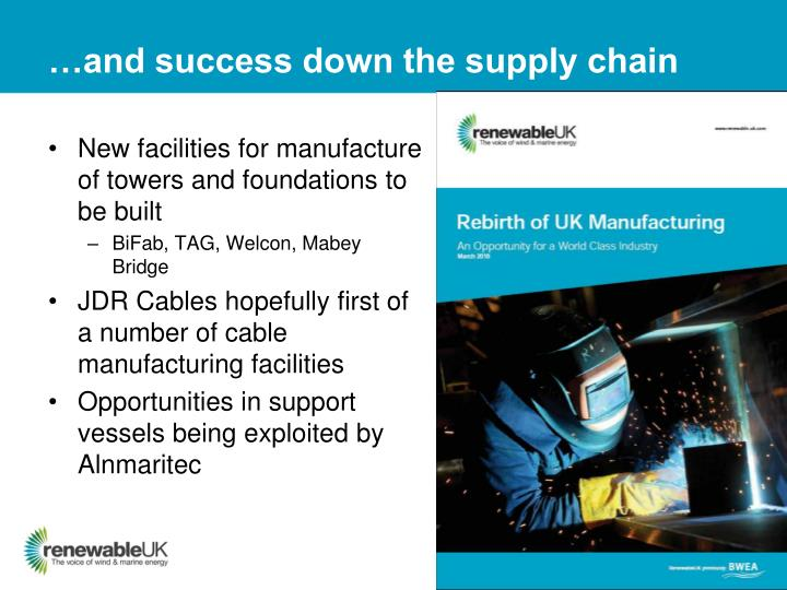 …and success down the supply chain