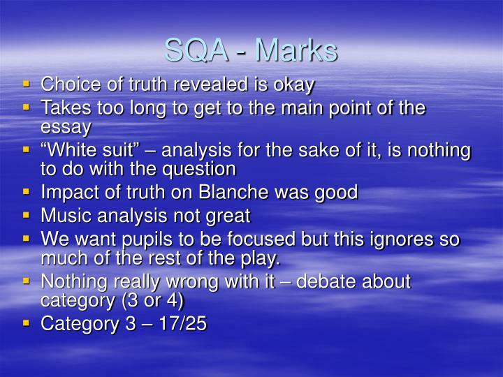 SQA - Marks