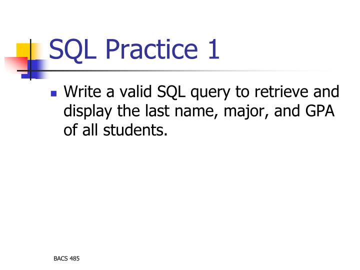 SQL Practice 1