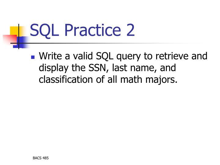 SQL Practice 2