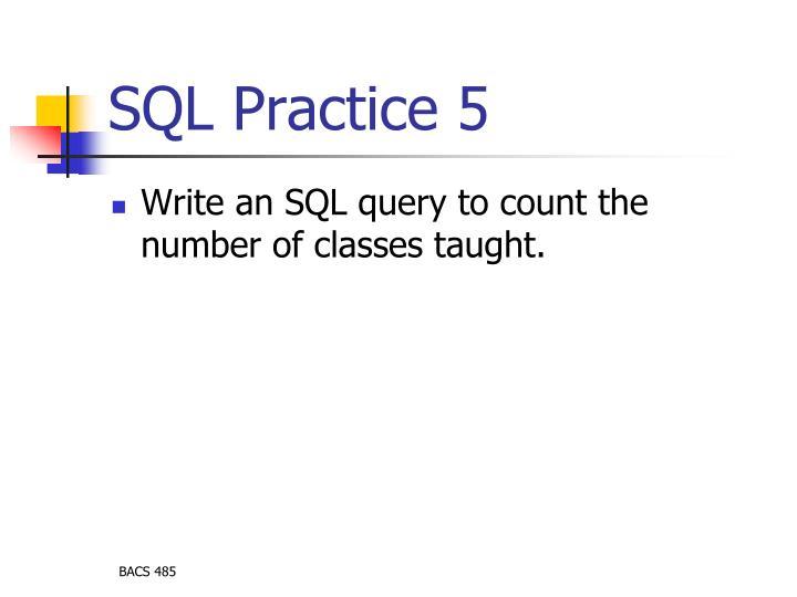 SQL Practice 5