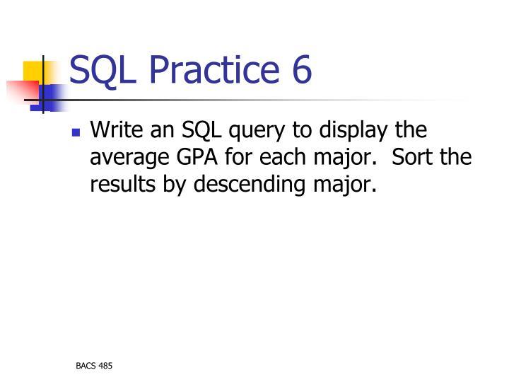 SQL Practice 6