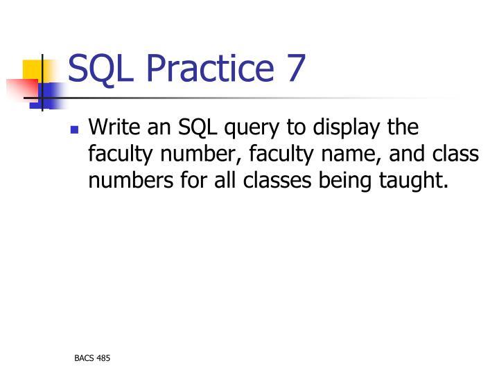 SQL Practice 7