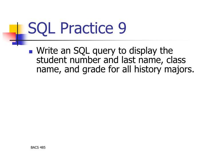 SQL Practice 9