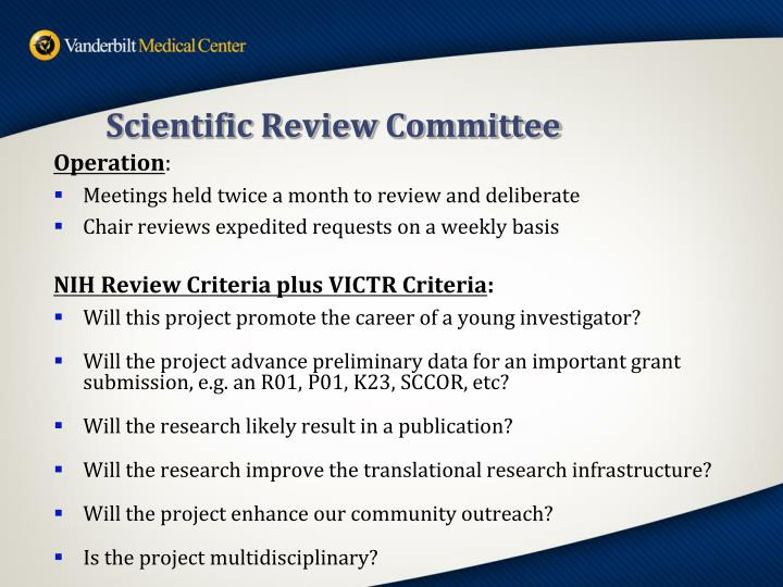 Scientific Review Committee
