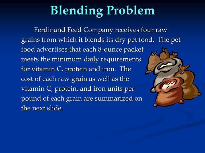 Blending Problem
