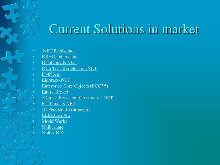 Current Solutions in market
