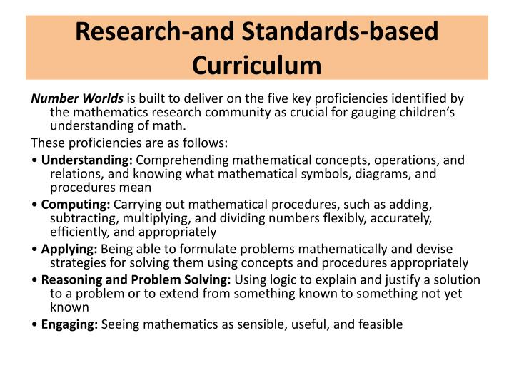 Research-and Standards-based Curriculum