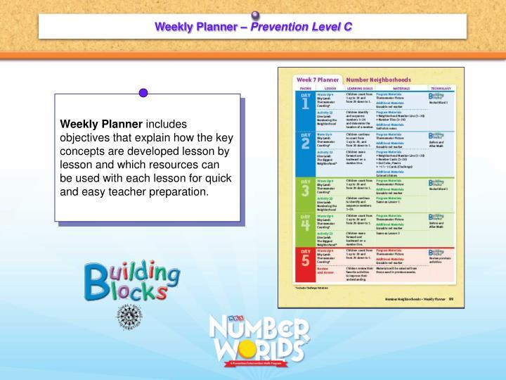 Weekly Planner –