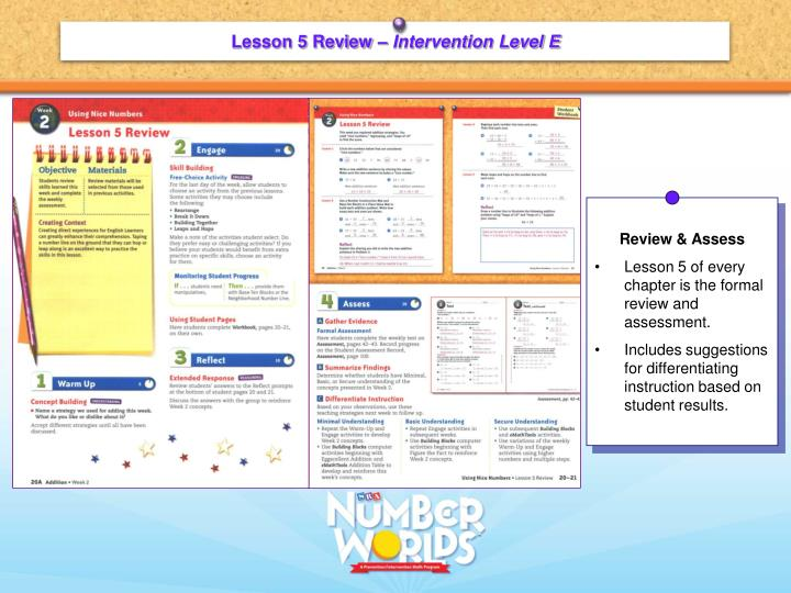 Lesson 5 Review –