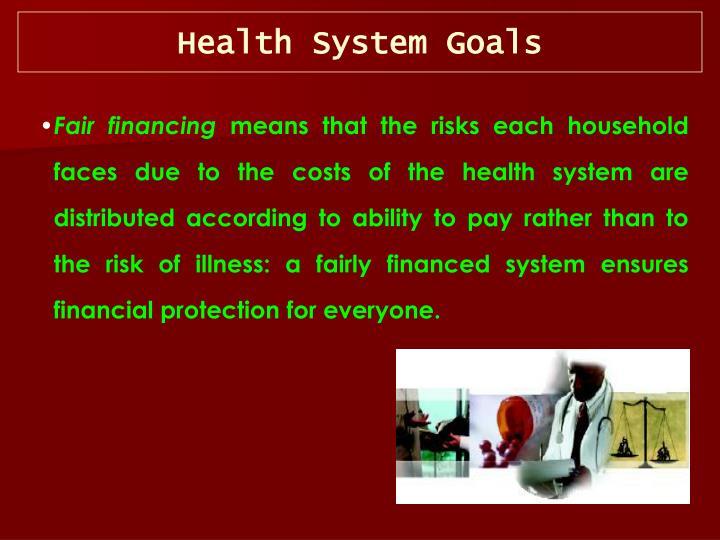 Health System Goals