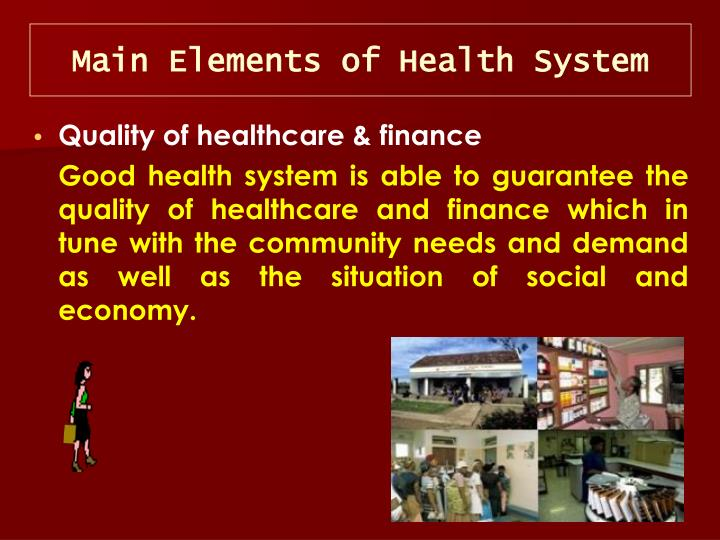 Main Elements of Health System