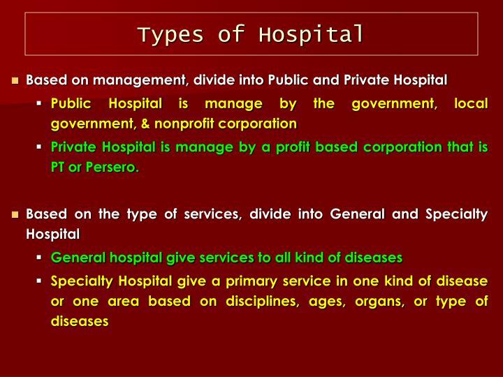 Types of Hospital