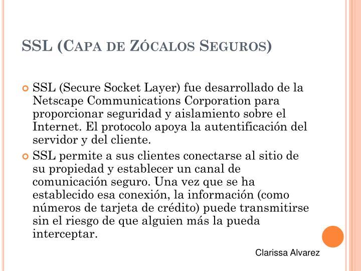 SSL (Capa de Zócalos Seguros)