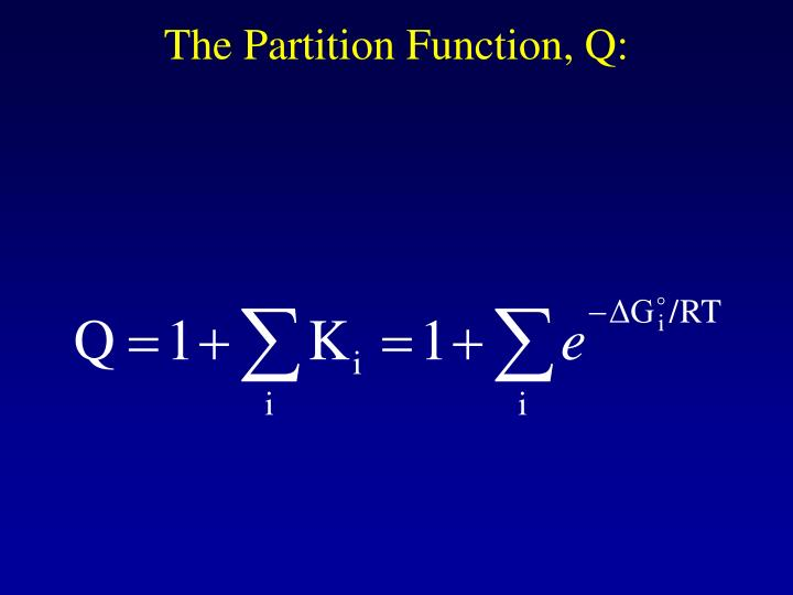The Partition Function, Q: