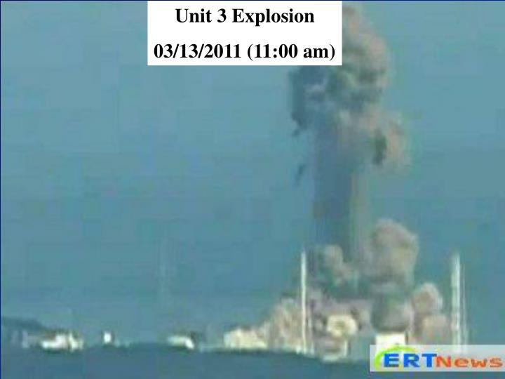 Unit 3 Explosion