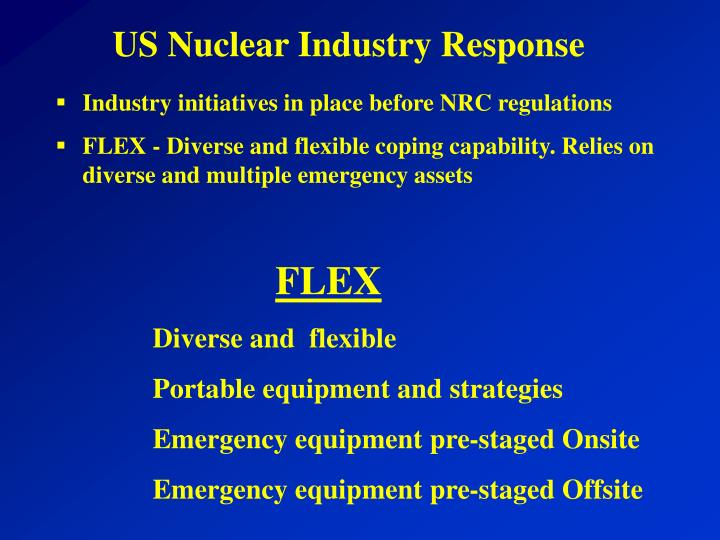 US Nuclear Industry Response