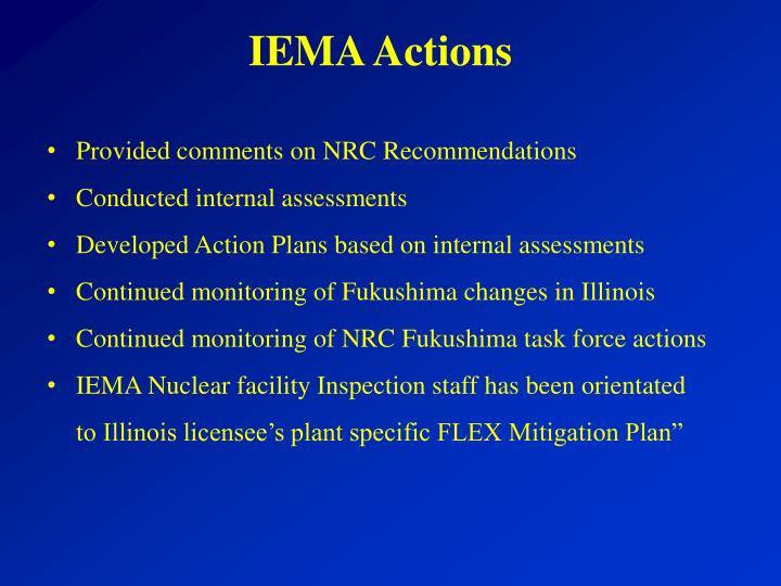 IEMA Actions