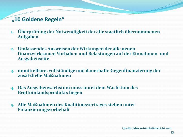 """""""10 Goldene Regeln"""""""