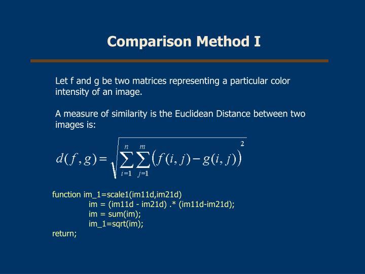 Comparison Method I