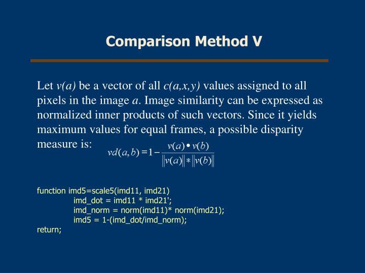 Comparison Method V