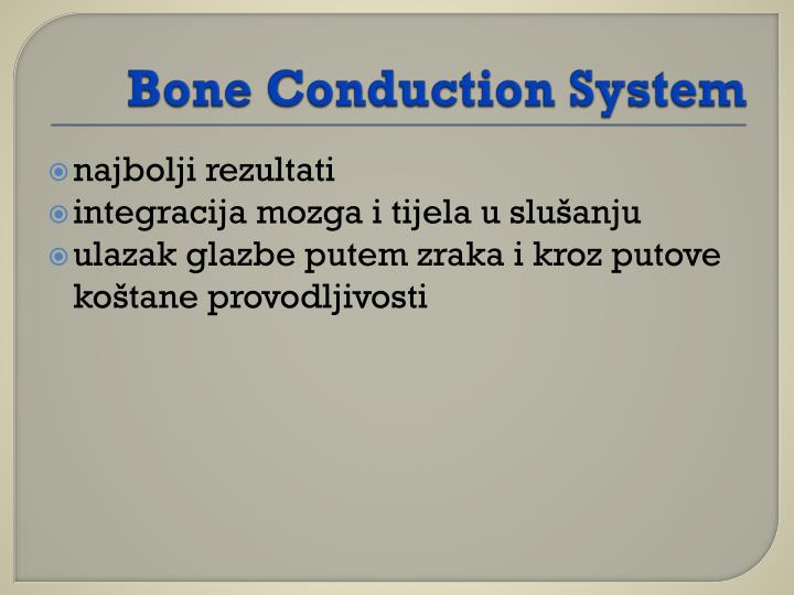 Bone Conduction System