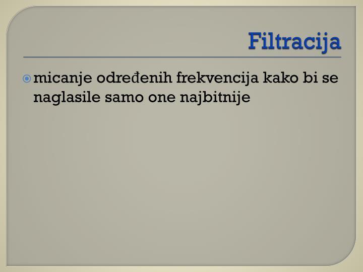 Filtracija