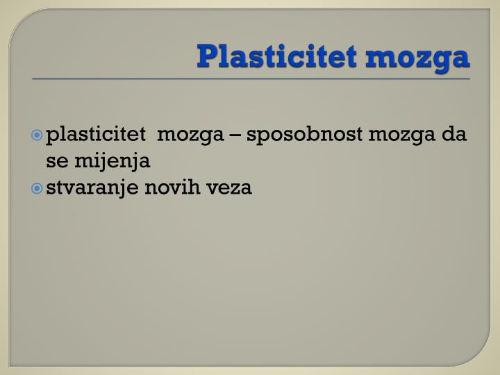 Plasticitet mozga