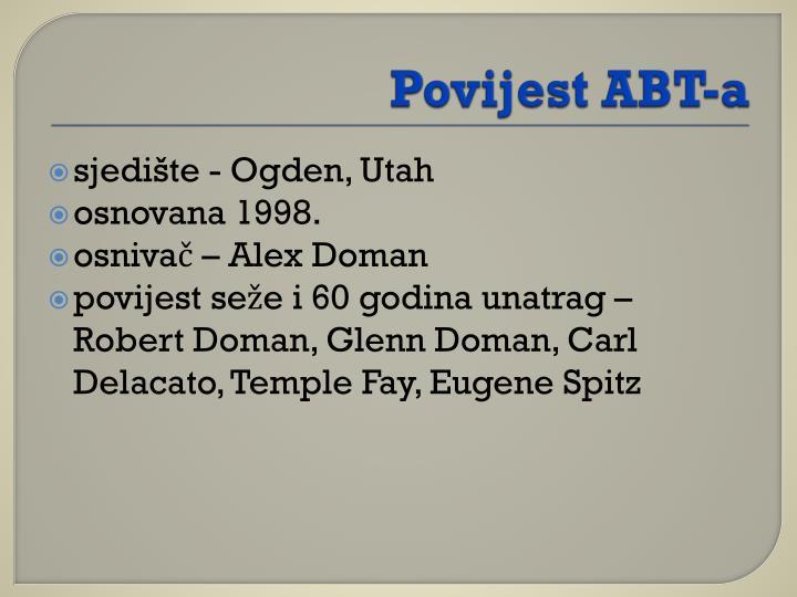 Povijest ABT-a