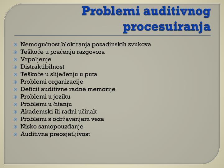 Problemi auditivnog procesuiranja