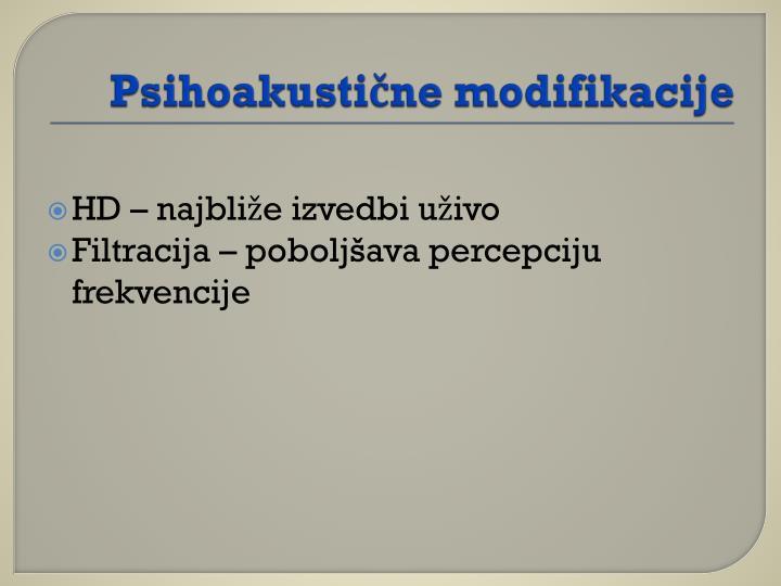 Psihoakustične modifikacije
