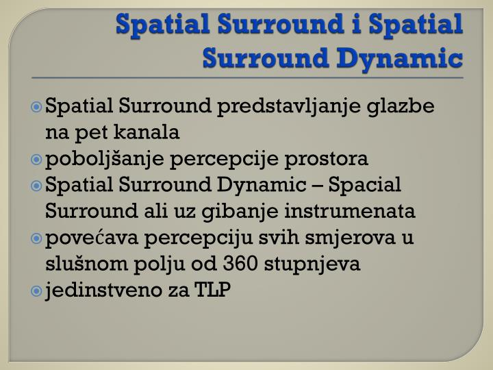 Spatial Surround i Spatial Surround Dynamic