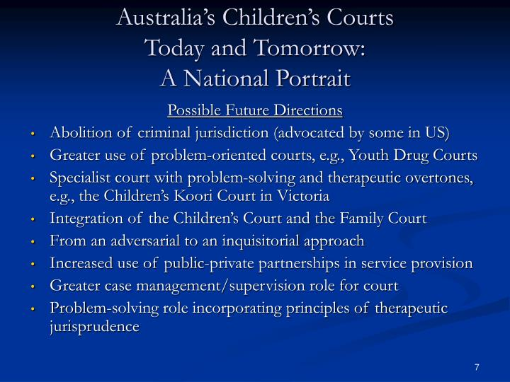 Australia's Children's Courts
