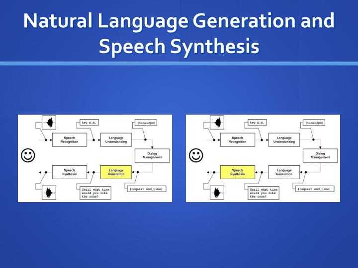 Natural Language Generation and Speech Synthesis