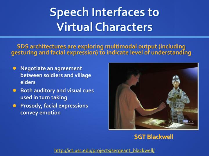 Speech Interfaces to