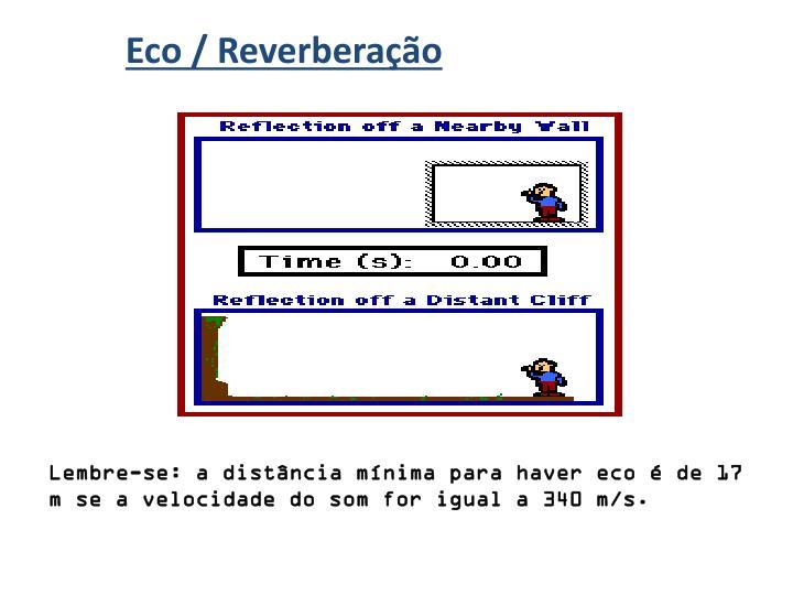 Eco / Reverberação